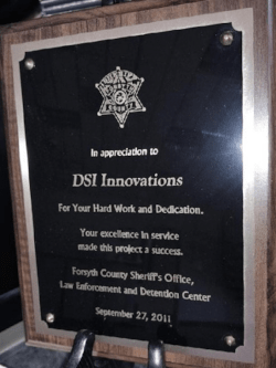 DSI's Forsyth County Appreciation Award
